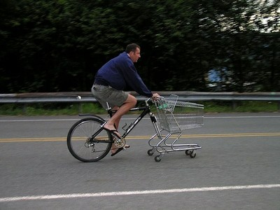 Shopping cart bike hybrid_Flickr_zieak