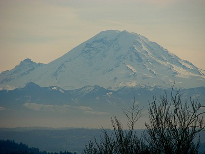 Mount Rainier Haze