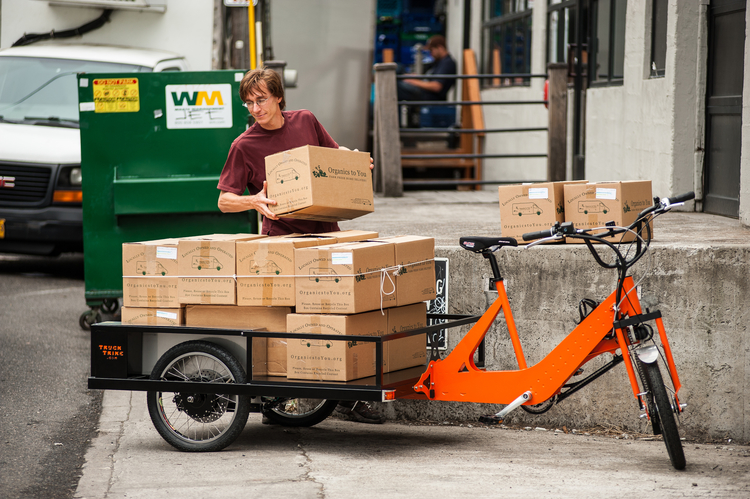 Loading boxes, by Truck Trike, used with permission.