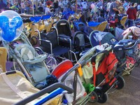 Piles of Baby Gear