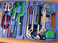 Photo of open toolbox