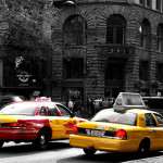 Taxis in Pioneer Square, Seattle