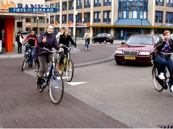 Laweiplein Drachten, The Netherlands, by NACTO
